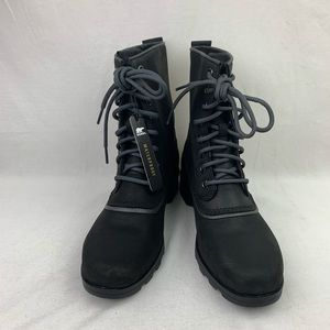 Sorel Emelie 1964 Black Waterproof Leather Boots 8